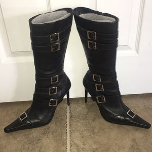 80's Black Boots